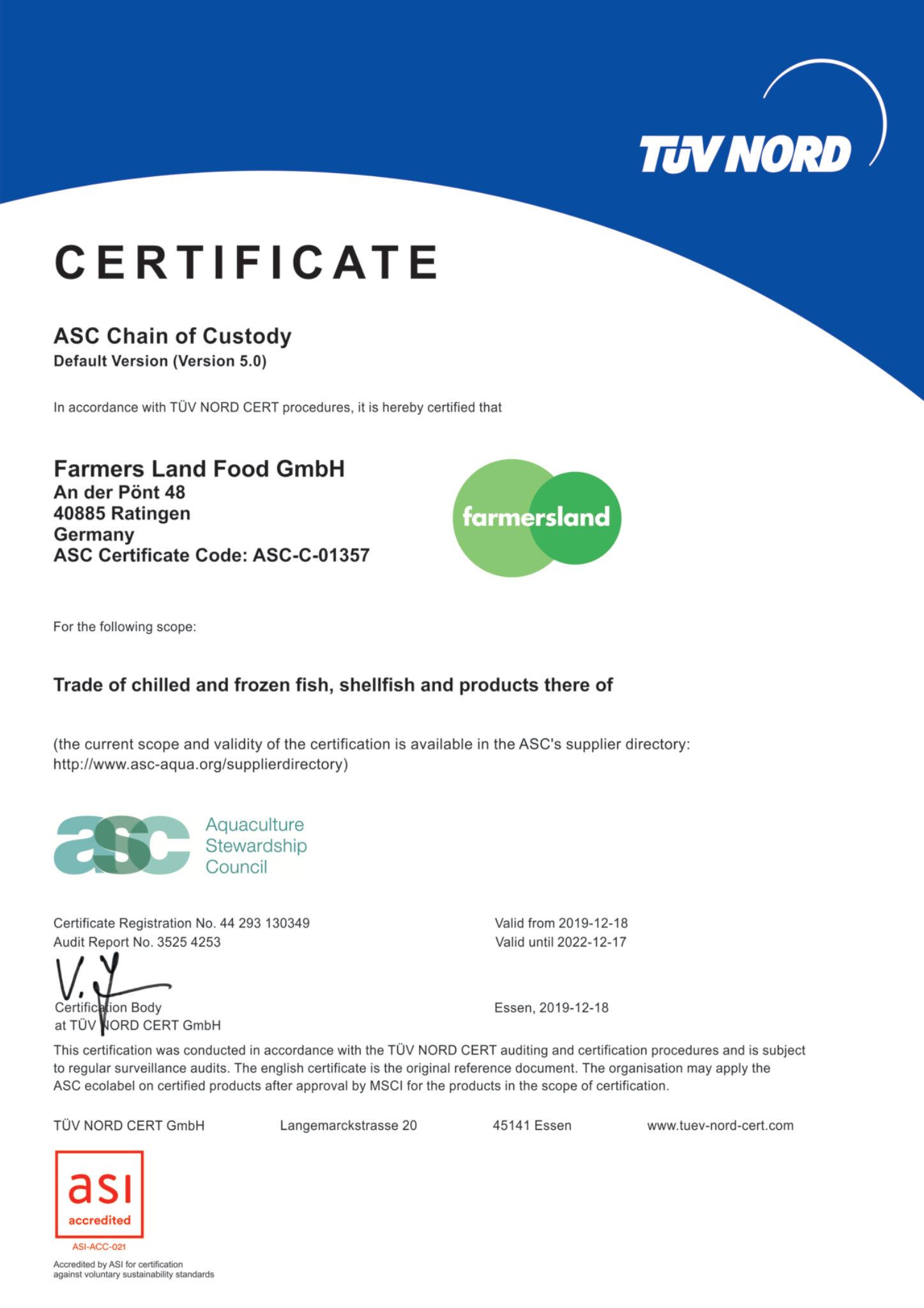 Zertifikat ASC